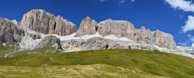 Piz Pord Mt in Sella massif of Dolomites, Italy Royalty Free Stock Photos