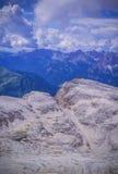 Piz Pordoi, Dolomiti山在意大利 库存图片