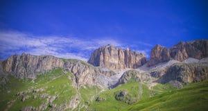 Piz Pordoi, Dolomiti山在意大利 库存照片