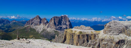 Piz Pordoi, Dolomiti mountains in Italy Stock Photography