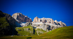 Piz Pordoi, Dolomiti mountains in Italy Stock Images