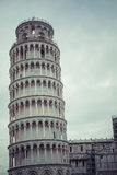 PIZA,意大利- 2016年3月10日, :斜塔和大教堂看法  库存照片