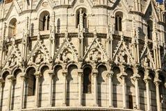 Piza.Europa落的塔模型细节, 免版税库存图片