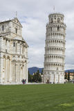 PIZA, ITALY - 10 MARCH, 2016: View of Leaning tower and the Basi Royalty Free Stock Photo