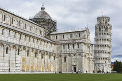 PIZA, ITALY - 10 MARCH, 2016: View of Leaning tower and the Basi Stock Image