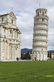 PIZA, ITALY - 10 MARCH, 2016: View of Leaning tower and the Basi Stock Photos