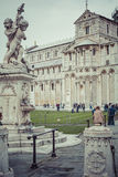 PIZA, ITALY - 10 MARCH, 2016: View of Leaning tower and the Basilica Royalty Free Stock Photos