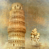Piza - rétro illustration dénommée Photo libre de droits