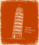 Piza Tower, vector illustration, travel concept Stock Images