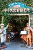Pizaria restaurante de Premiata, Milão, Itália imagens de stock royalty free
