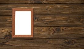 Pizarra blanca aislada capítulo en fondo de madera Mofa para arriba Imagen de archivo libre de regalías