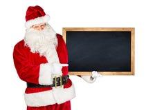 Pizarra blanca roja clásica tradicional de Papá Noel Imágenes de archivo libres de regalías