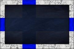 Pizarra con el marco de la bandera del finnland Fotografía de archivo