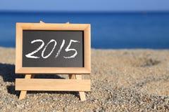 Pizarra con el texto 2015 Imagenes de archivo
