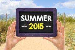 Pizarra con el verano 2015 Fotos de archivo libres de regalías