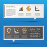 Pizarra de la charla del icono y de la burbuja 3D del negocio. Foto de archivo