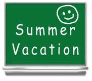 Pizarra de la escuela de las vacaciones de verano - cabritos Imagen de archivo libre de regalías