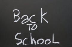 Pizarra de la escuela de nuevo a escuela Foto de archivo