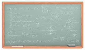 Pizarra de la matemáticas Foto de archivo