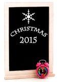Pizarra 2015 de la Navidad Imágenes de archivo libres de regalías
