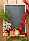 Pizarra de la Navidad Imagen de archivo