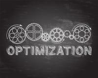 Pizarra de la optimización ilustración del vector