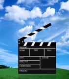 Pizarra de la película Foto de archivo