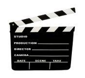 Pizarra de la película con el camino de recortes Imagen de archivo libre de regalías