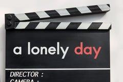 Pizarra de la película de historia de amor Imagen de archivo