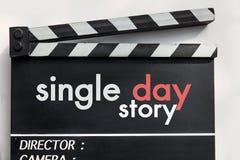 Pizarra de la película de historia de amor Imagen de archivo libre de regalías