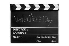 Pizarra de la película de historia de amor Fotos de archivo