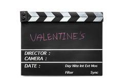 Pizarra de la película de historia de amor imágenes de archivo libres de regalías
