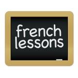 Pizarra de las lecciones francesas Imagen de archivo