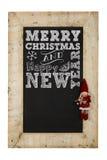 Pizarra de los Años Nuevos de la Feliz Navidad Foto de archivo libre de regalías