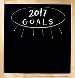 Pizarra de 2017 metas Imagen de archivo libre de regalías