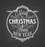 Pizarra del fondo de la Feliz Navidad Imagen de archivo libre de regalías