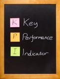 Pizarra del indicador de funcionamiento dominante de KPI Imagen de archivo libre de regalías