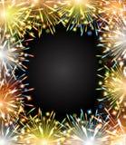 Pizarra del marco del color del fuego de los fuegos artificiales Imagen de archivo libre de regalías