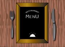 Pizarra del menú stock de ilustración