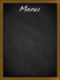 Pizarra del menú con el espacio vacío Fotografía de archivo libre de regalías