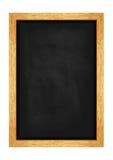 Pizarra del menú para los cafés y los restaurantes Marco de madera realista Vector Foto de archivo