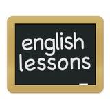 Pizarra inglesa de las lecciones Imagen de archivo libre de regalías