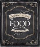 Pizarra natural orgánica de la comida Fotografía de archivo