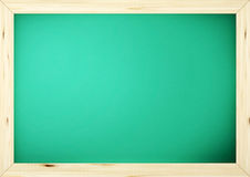 Pizarra negra verde de la escuela de la tarjeta Fotos de archivo