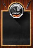 Pizarra para el menú de la barbacoa Foto de archivo libre de regalías