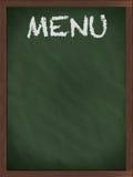 Pizarra verde del menú Imagen de archivo libre de regalías