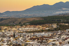 Pizarra village, Malaga province, Spain stock images