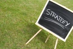 Pizarra y estrategia Fotografía de archivo