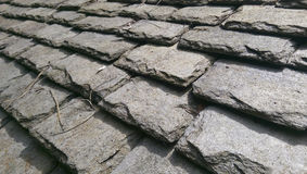 Pizarras de techumbre tradicionales Galés Foto de archivo