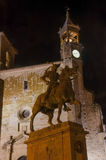 Pizarro statue at night Stock Photos